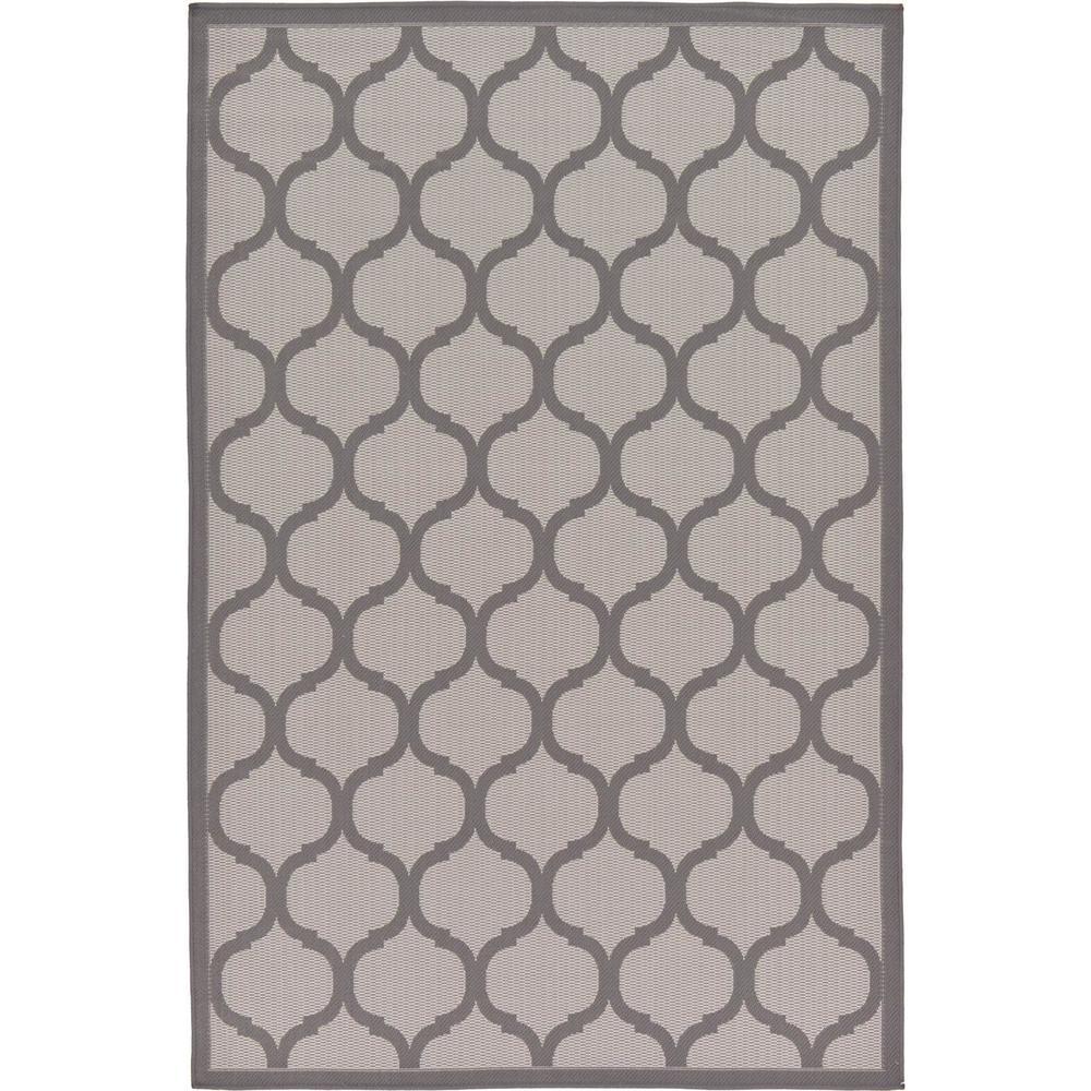 Outdoor Moroccan Gray 5' 3 x 8' 0 Area Rug