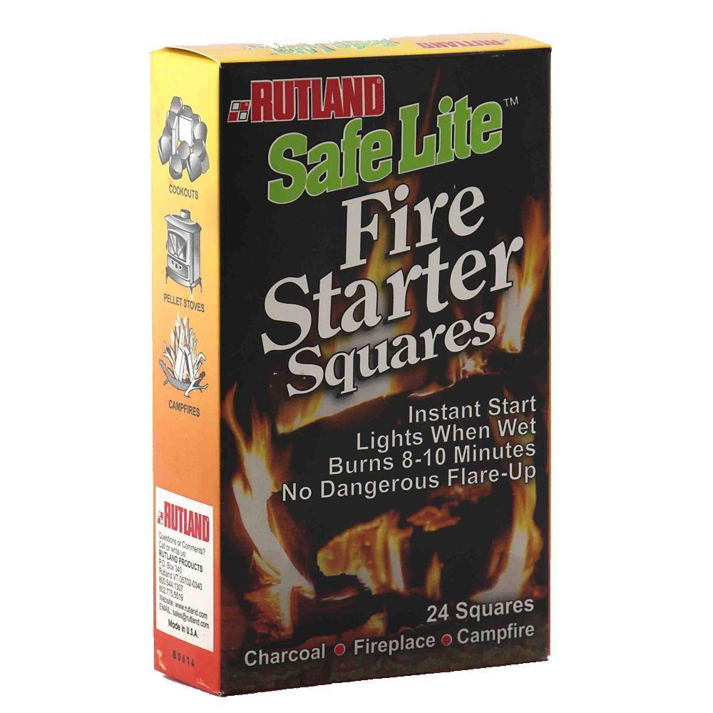 Safe Lite Fire Starter Squares (24-Pack)