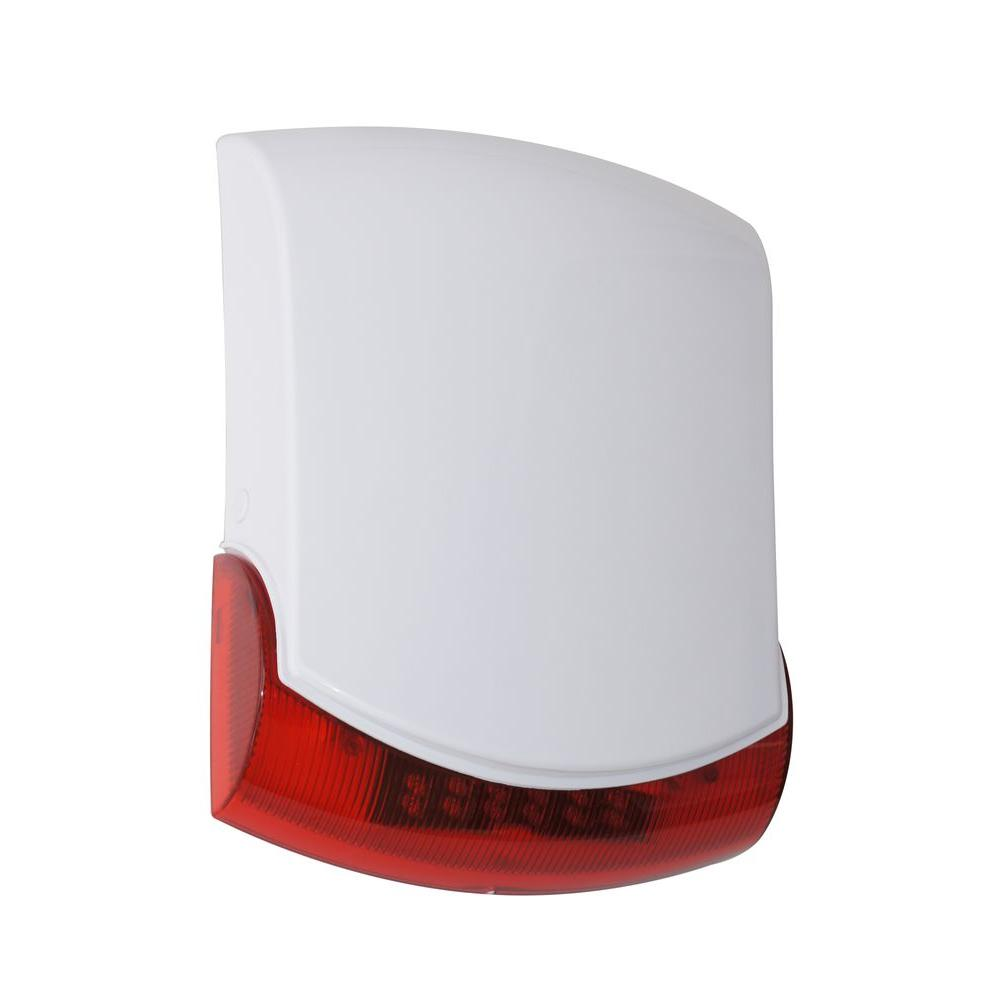 Jumbo Outdoor Siren Strobe Box (Red and White)
