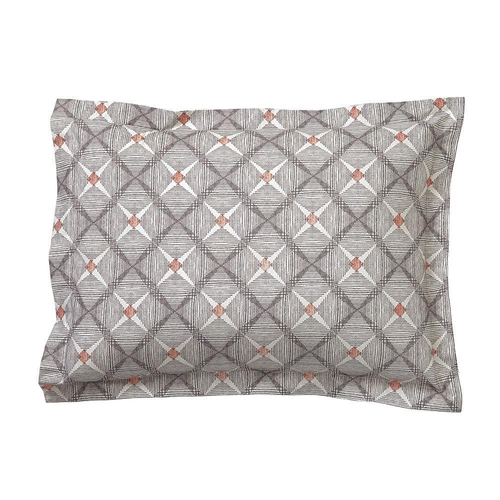 Parquet Diamond Organic Cotton Percale Standard Sham