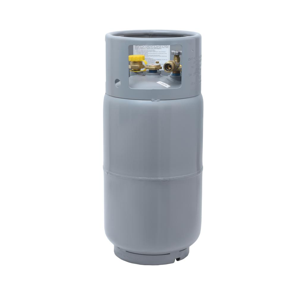 Flame King 33 5 Lbs Forklift Propane Tank Cylinder Lp With Gauge And Fill Valve Ysn335 The Home Depot