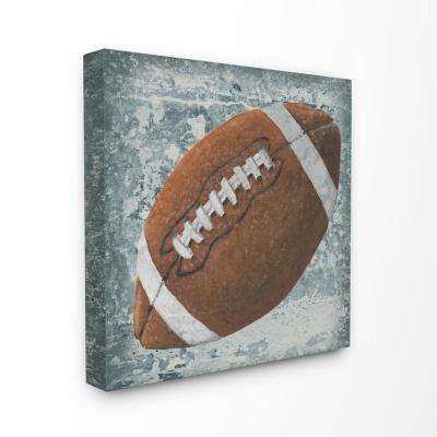 """30 in. x 30 in. """"Grunge Sports Equipment Football"""" by Studio W Printed Canvas Wall Art"""