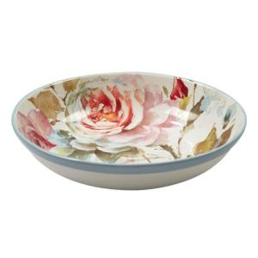 Beautiful Romance Multi-Colored 13 in. x 3 in. Serving/Pasta Bowl