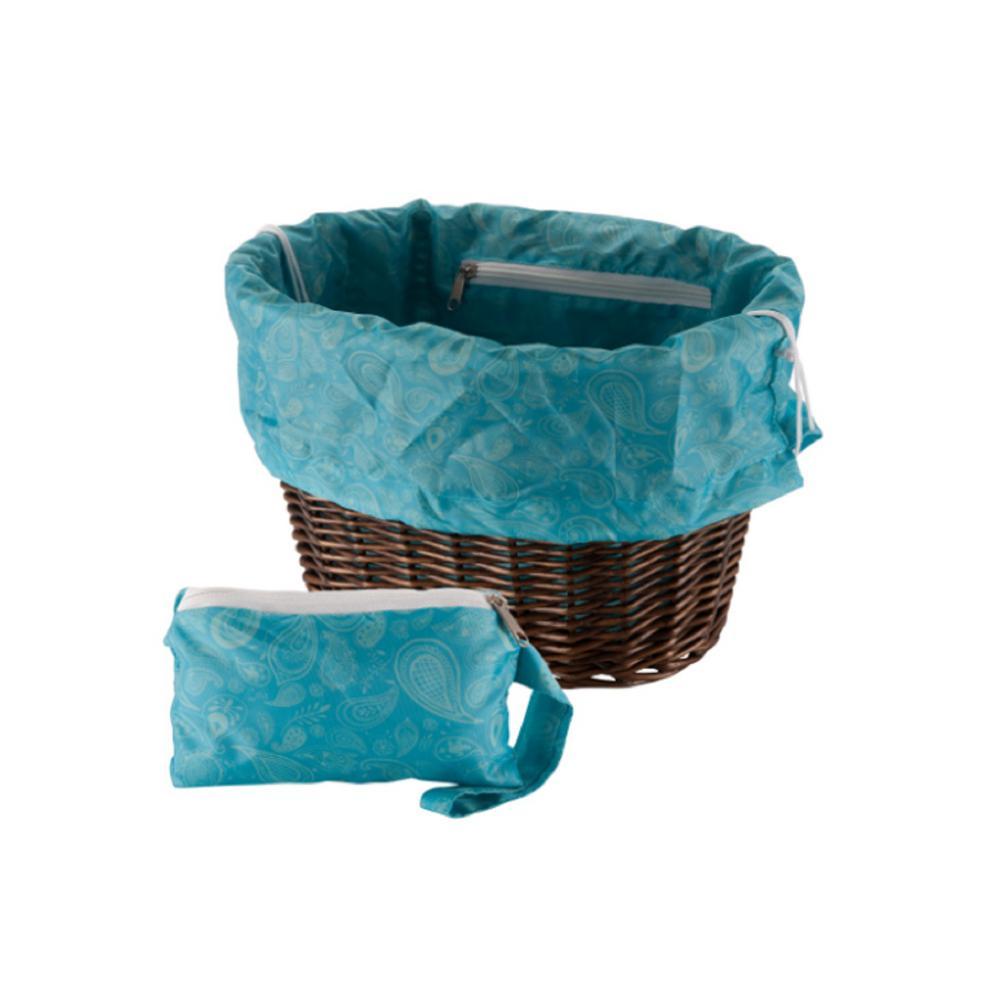 Universal Paisley Basket Liner and Bag