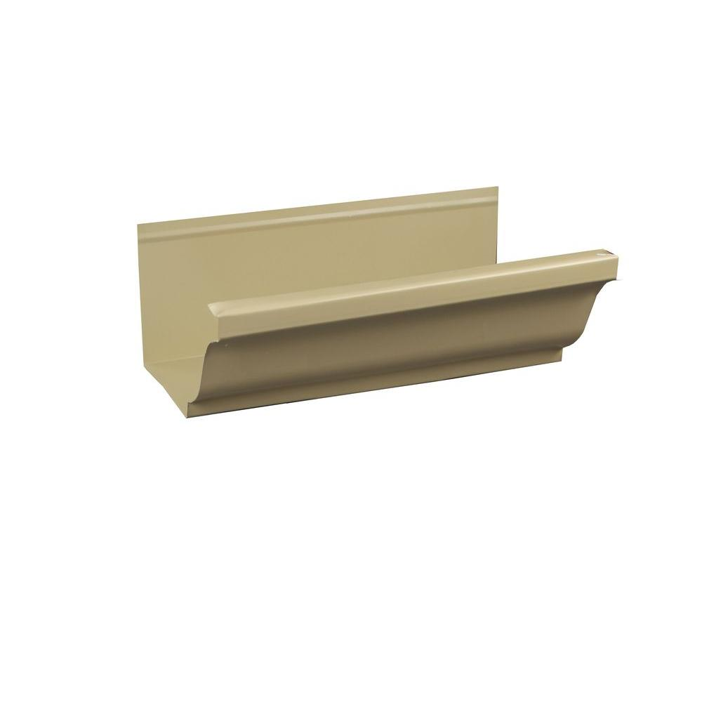5 in. x 8 ft. K-Style Antique Ivory Aluminum Gutter