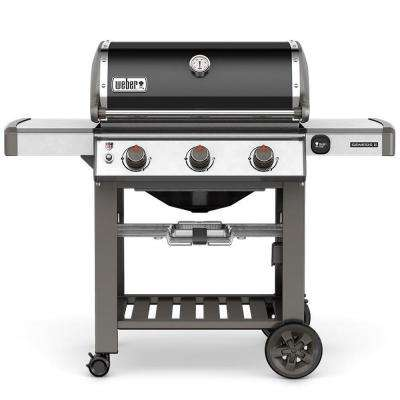 Genesis II E-310 3-Burner Natural Gas Grill in Black with Built-In Thermometer