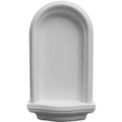 11-3/8 in. x 3-1/4 in. x 20 in. Primed Polyurethane Surface Mount Maria Wall Niche