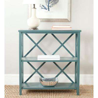 Liam Slate Teal Open Bookcase