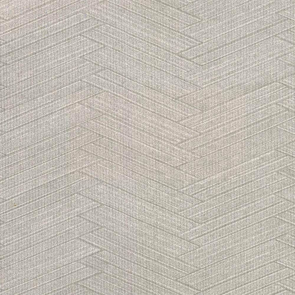 8 in. x 10 in. Karma Light Grey Herringhone Weave Wallpaper