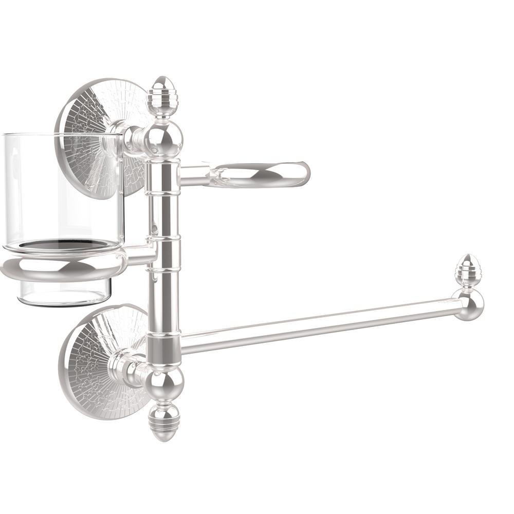 Monte Carlo Collection Hair Dryer Holder and Organizer in Polished Chrome