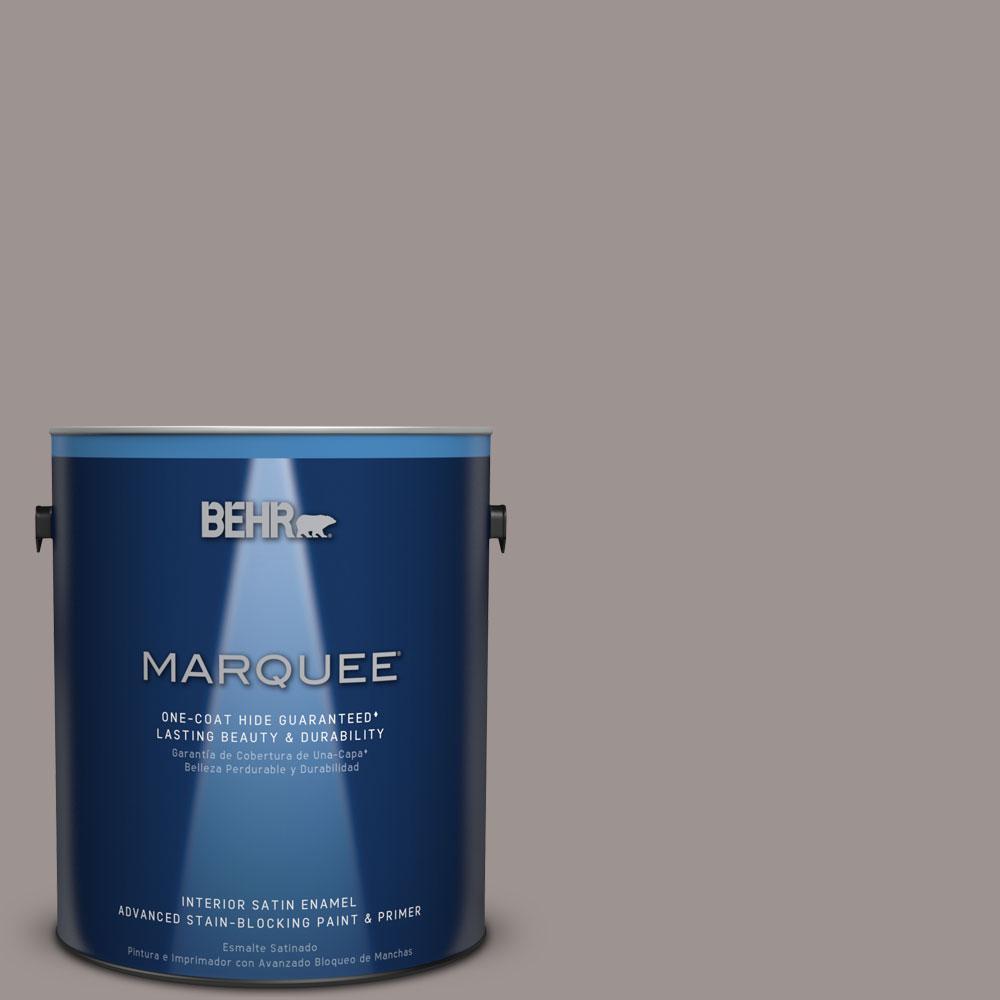 1 gal. #N140-4 Tavern Taupe One-Coat Hide Satin Enamel Interior Paint