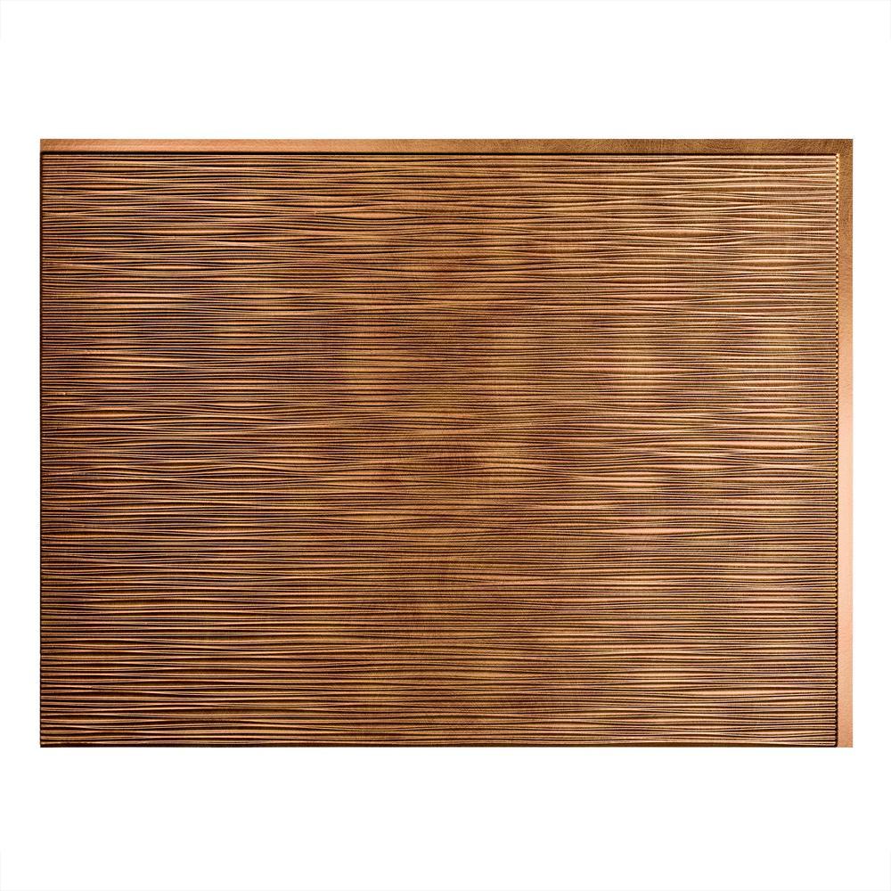 Ripple 18 in. x 24 in. Antique Bronze Vinyl Decorative Wall Tile Backsplash 18 sq. ft. Kit