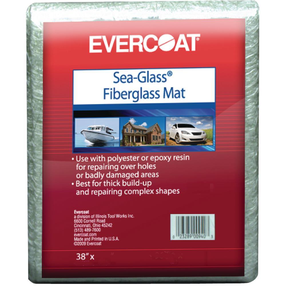 1.5 oz. 38 in. x 34 in. 100% Fiberglass Material in Non-Woven State