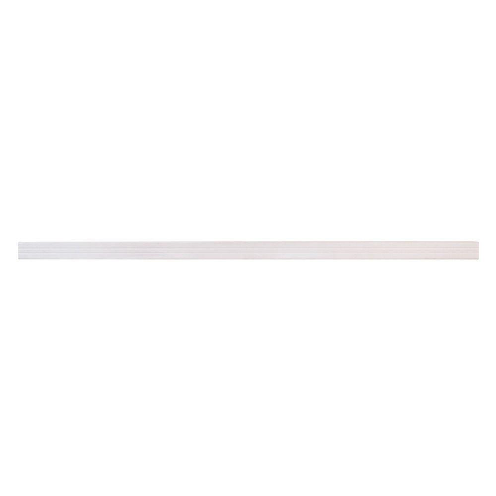 SnapFence 1-1/2 in. x 1-1/2 in. x 39 in. White Modular Vinyl Fence Post or Rail (12-Box)