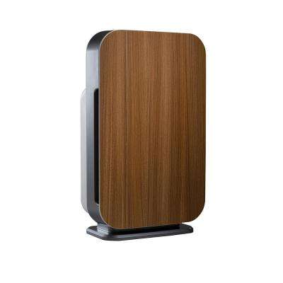 Customizable Air Purifier with HEPA-Pure Filter to Remove Allergies and Dust in Oak