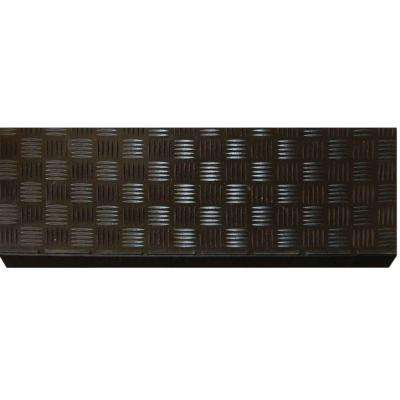 Black Rubber 9 in. x 24 in. Square Stair Tread Cover