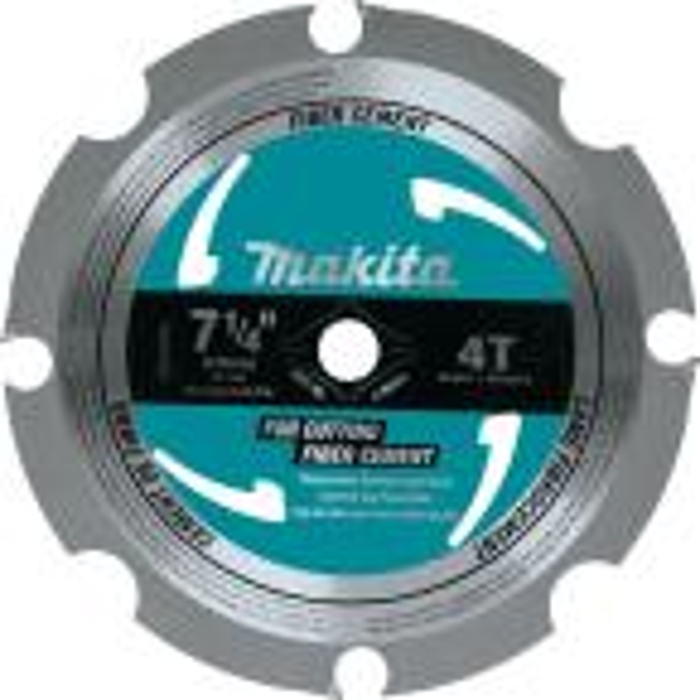 7-1/4 in. 4-Teeth Polycrystalline Diamond-Tipped Fiber Cement Blade
