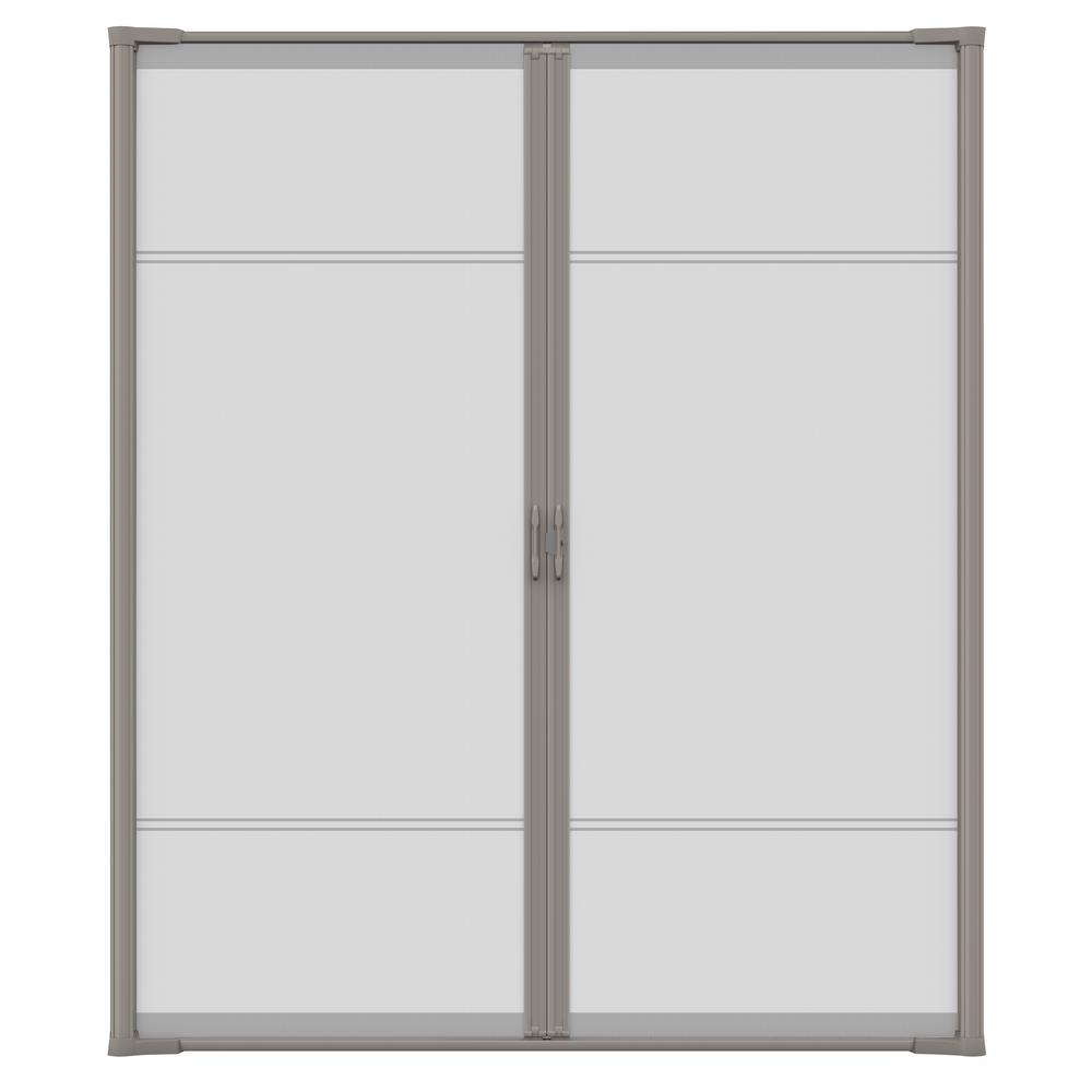 72 in. x 97 in. Brisa Sandstone Tall Double Retractable Screen Door Kit