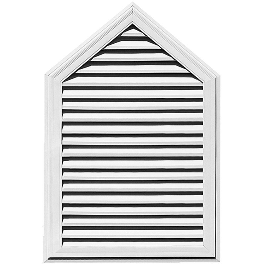 Builders Edge 34 in. x 50 in. Steeple Gable Vent #001 White