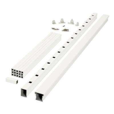 Enclave 6 ft. x 3 ft. White Capped Composite Rail Section With Composite Balusters