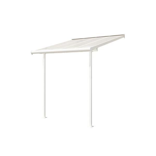 Sierra 7.5 ft. x 7.5 ft. White Patio Awning Cover