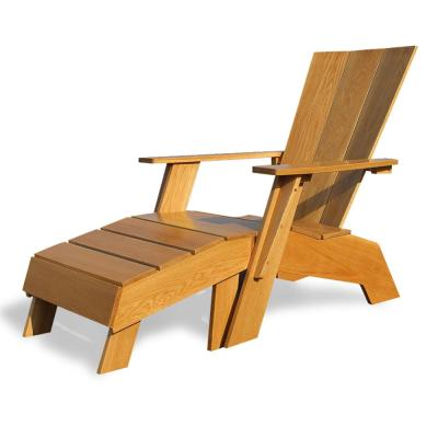 Baytown Wood Adirondack Chair With Ottoman