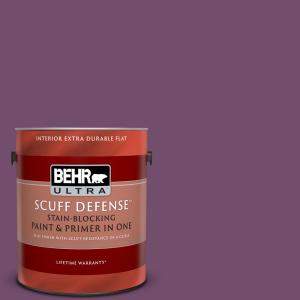 Behr Ultra 1 Gal Ppu1 17 Majestic Orchid Extra Durable Flat Interior Paint And Primer In One 172301 The Home Depot