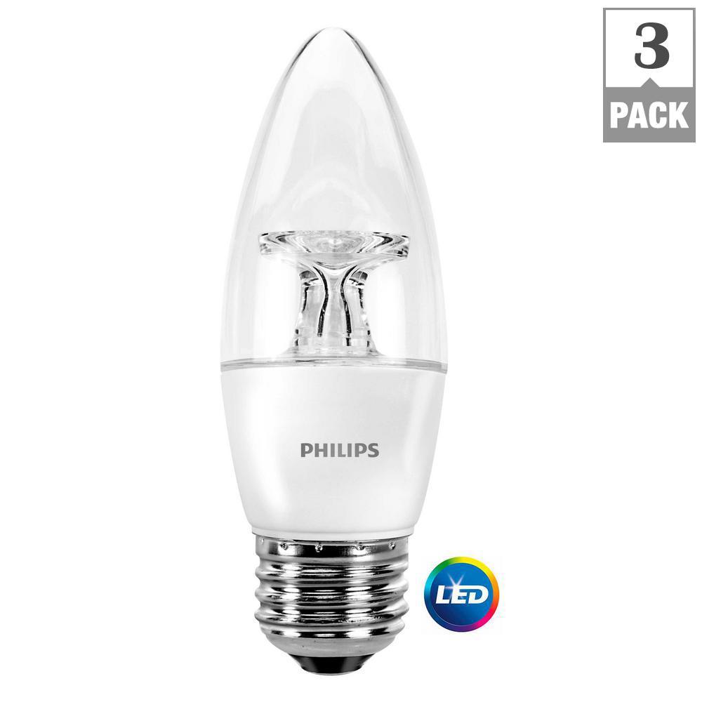 40-Watt Equivalent B11 Dimmable LED Light Bulb Bright White Energy Star