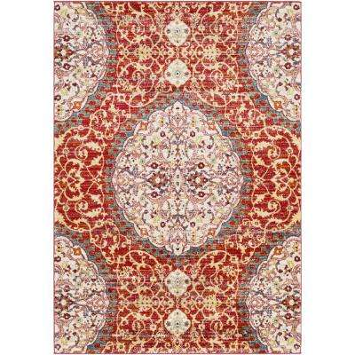 Aliza Burgundy 5 Ft 3 In X 7 Oriental
