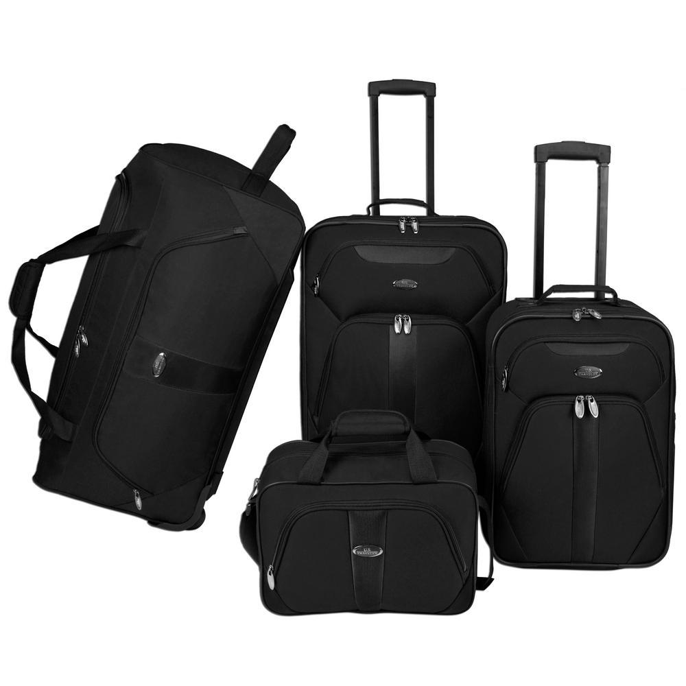 4-Piece Luggage Set, Black