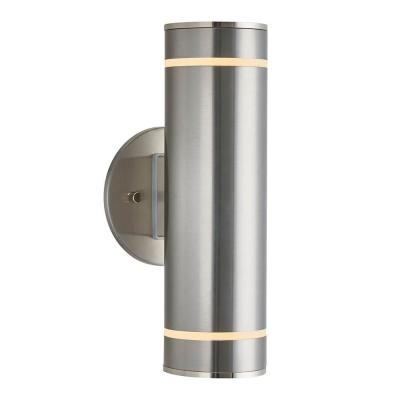 Medium C7 2-Light Stainless Steel Outdoor Wall Mount Cylinder Light