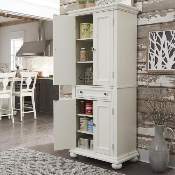 Homestyles Dover White Kitchen Pantry 5427 69 The Home Depot