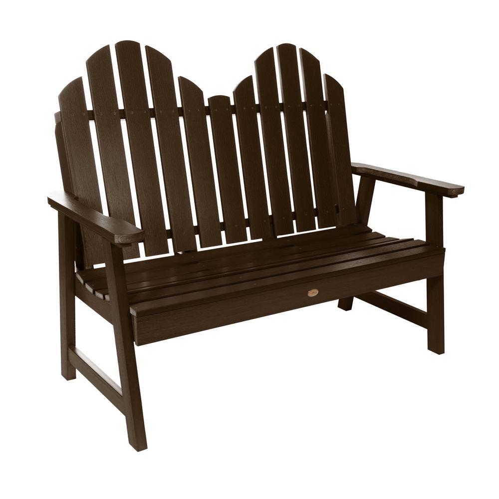 Classic Westport 48 in. 2-Person Weathered Acorn Recycled Plastic Outdoor Garden Bench