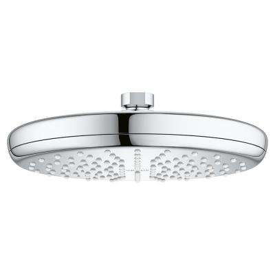 Tempesta 210 1-Spray 8-1/4 in. Fixed Round Showerhead with 2.5 GPM in StarLight Chrome