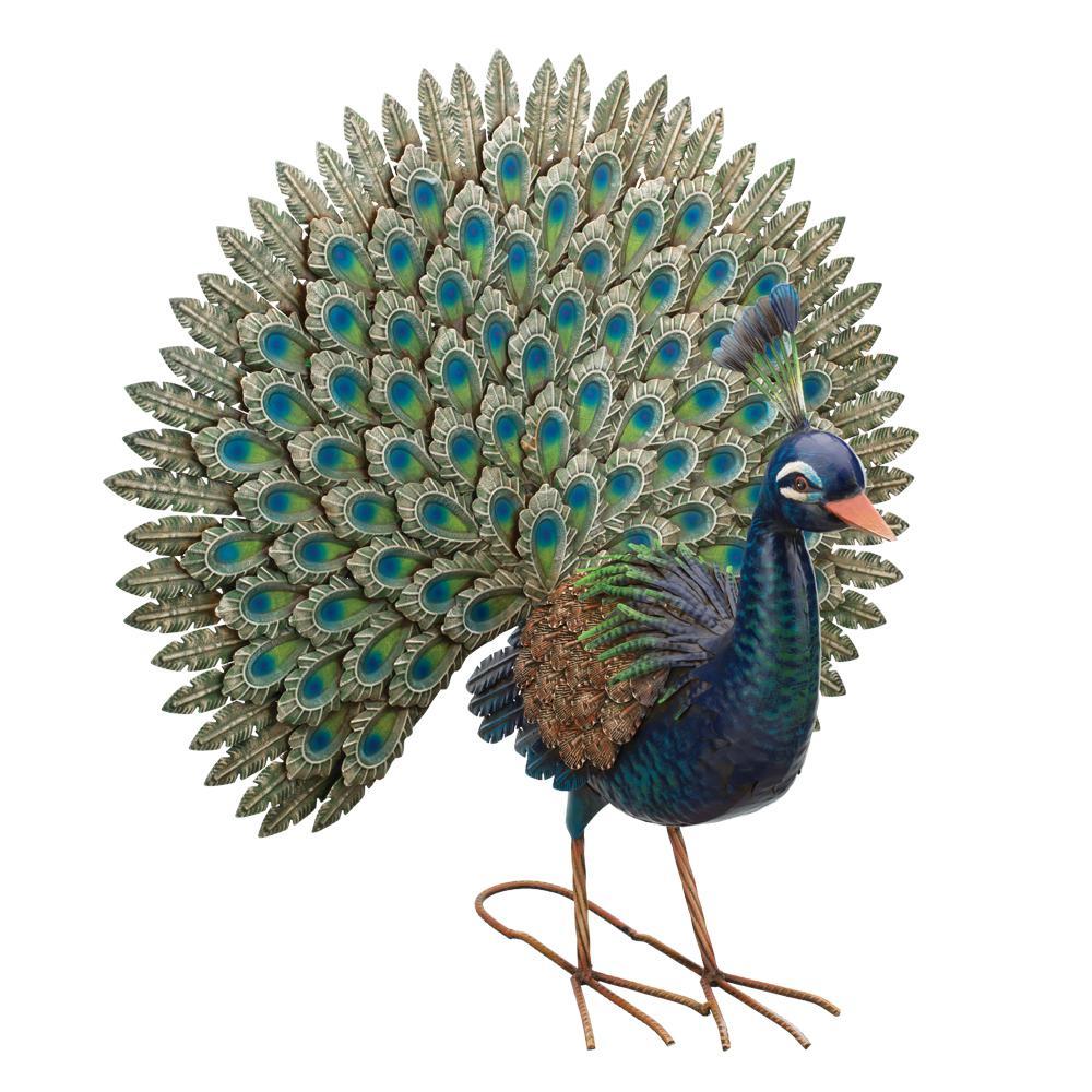 Regal Peacock Garden Statue Pride 12022 The Home Depot