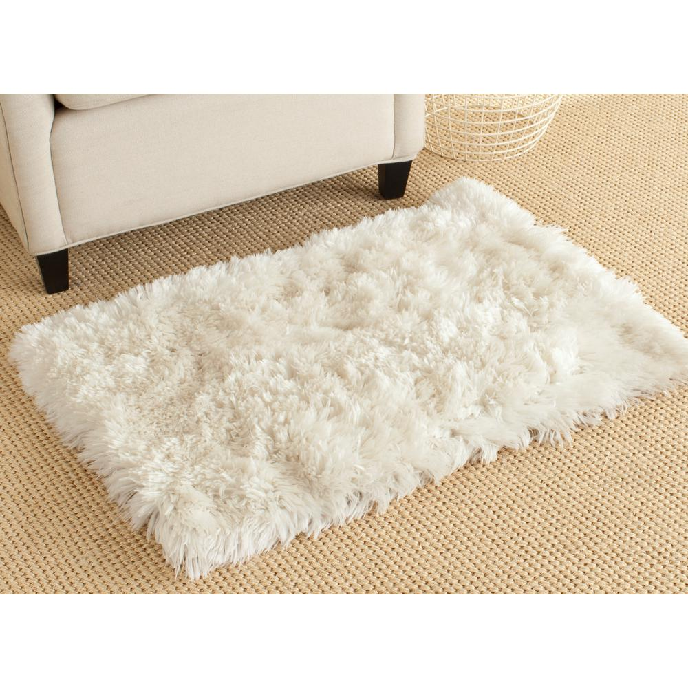 Arctic Shag Ivory 2 ft. 6 in. x 4 ft. Area