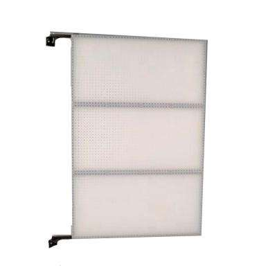 XtraWall 48 in. W x 72 in. H x 1-1/2 in. D Wall Mount Double-Sided Polypropylene Swing Panel Pegboard