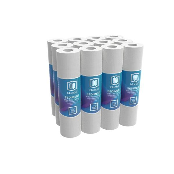 """6-Pack of 1 Micron Wound String Sediment Water Filter Cartridges 10/""""x2,5/"""" for RO"""