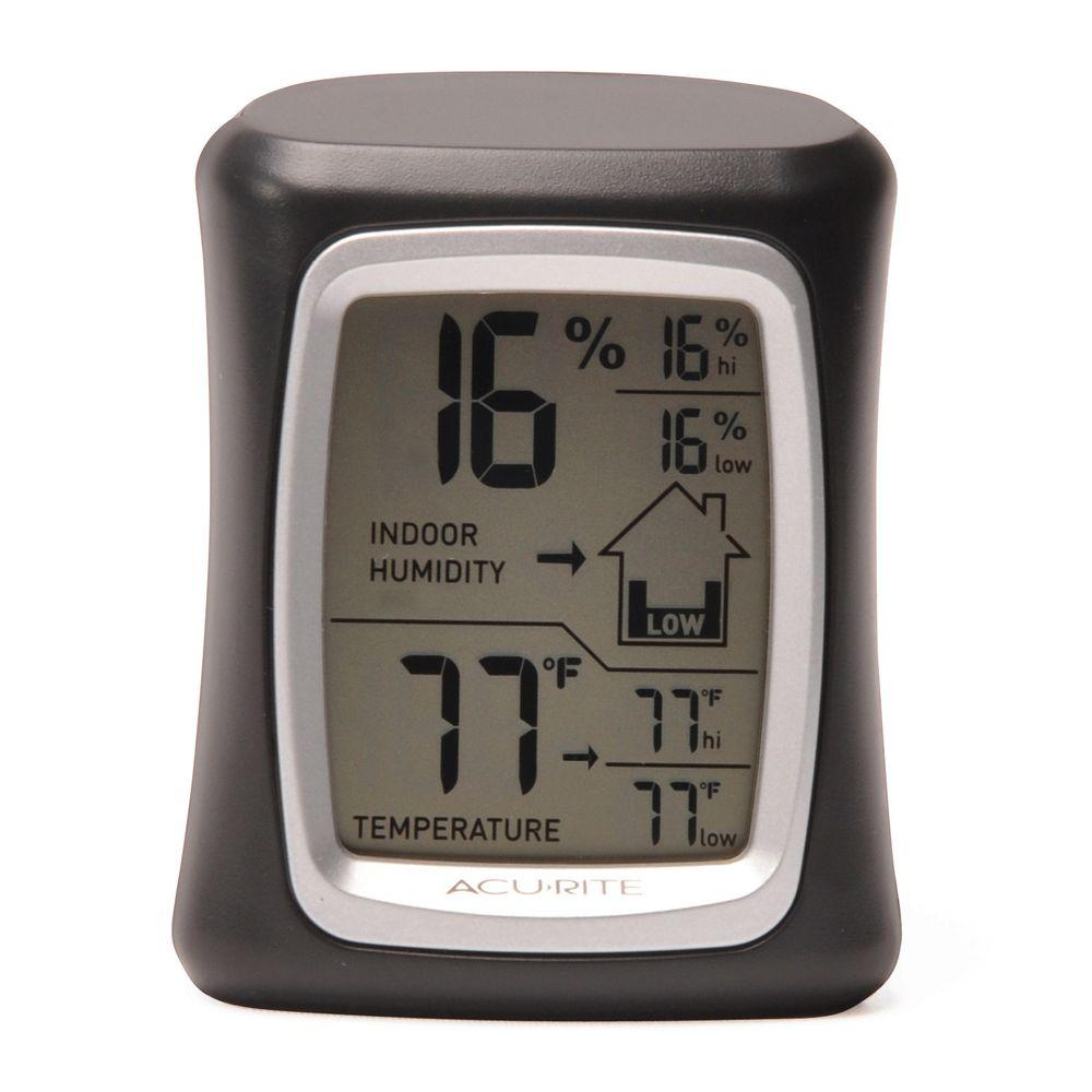 AcuRite Digital Humidity and Temperature Monitor in Black
