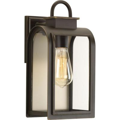 Refuge Collection 1-Light Oil Rubbed Bronze 16.25 in. Outdoor Wall Lantern Sconce