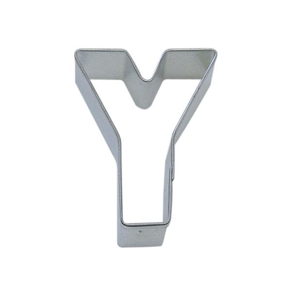 CybrTrayd 12-Piece Letter Y Tinplated Steel Cookie Cutter & Cookie Recipe