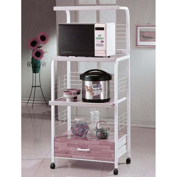 Ore International White Microwave Cart