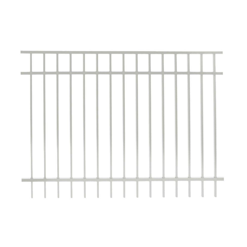 Vinnings 5 ft. H x 6 ft. W White Aluminum Fence Panel