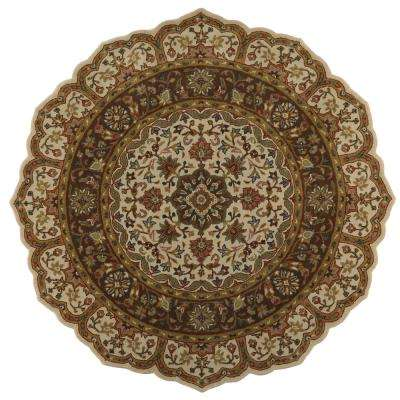 Masterpiece Taupe 6 ft. x 6 ft. Round Area Rug
