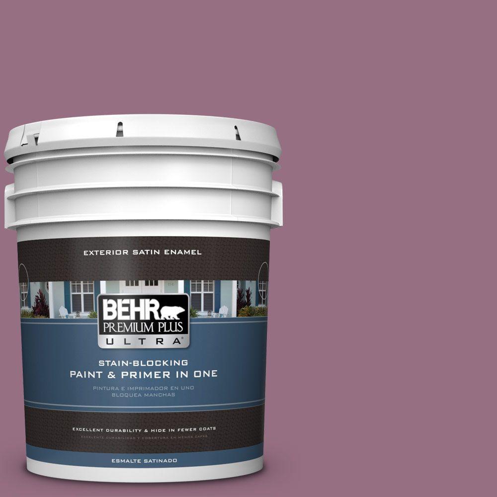 BEHR Premium Plus Ultra 5-gal. #690D-6 Meadow Flower Satin Enamel Exterior Paint
