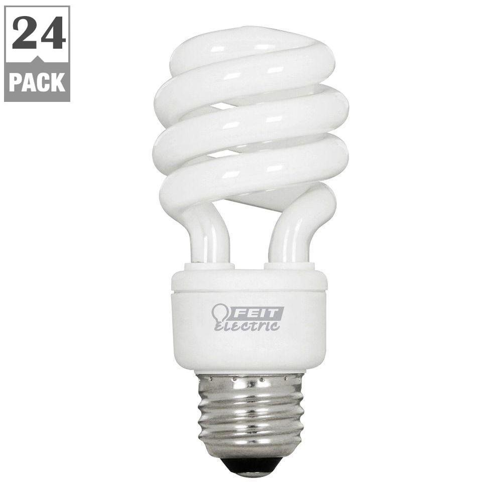 60W Equivalent Soft White (2700K) Spiral CFL Light Bulb (Case of