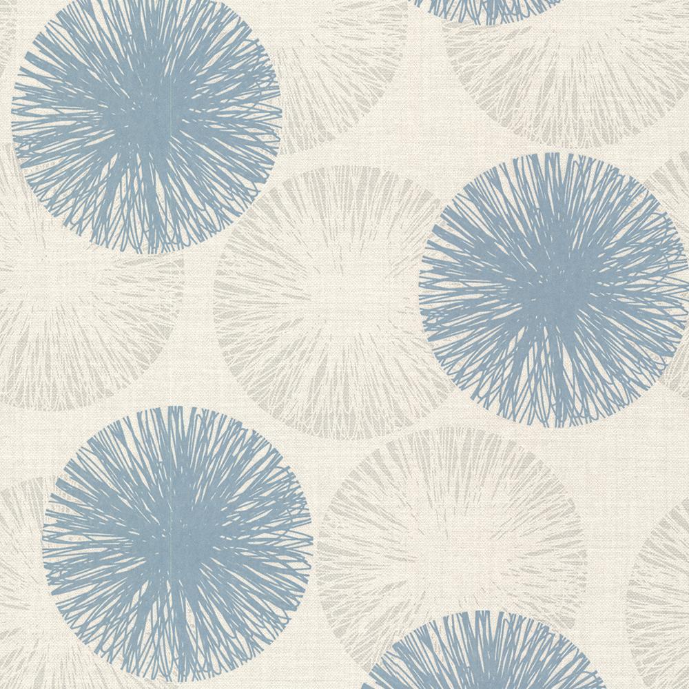 56.4 sq. ft. Cayman Aqua Contemporary Raffia Wallpaper