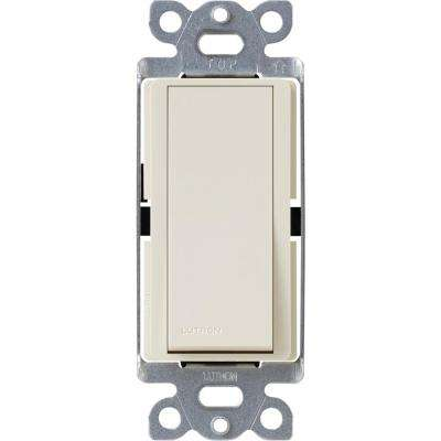 Claro 15 Amp 3-Way Rocker Switch with Locator Light, Light Almond