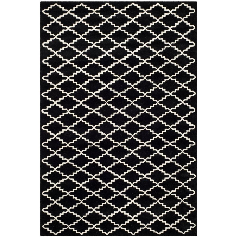 Chatham Black/Ivory 6 ft. x 9 ft. Area Rug