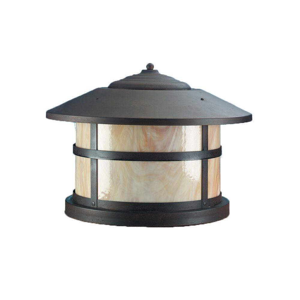 1-Light 12 in. Matte Bronze Outdoor Lantern